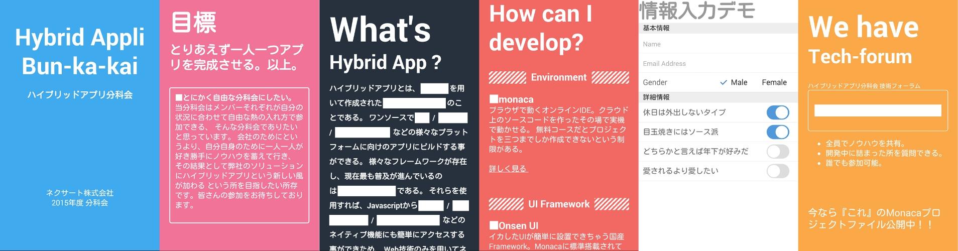 ハイブリッドアプリ分科会活動紹介